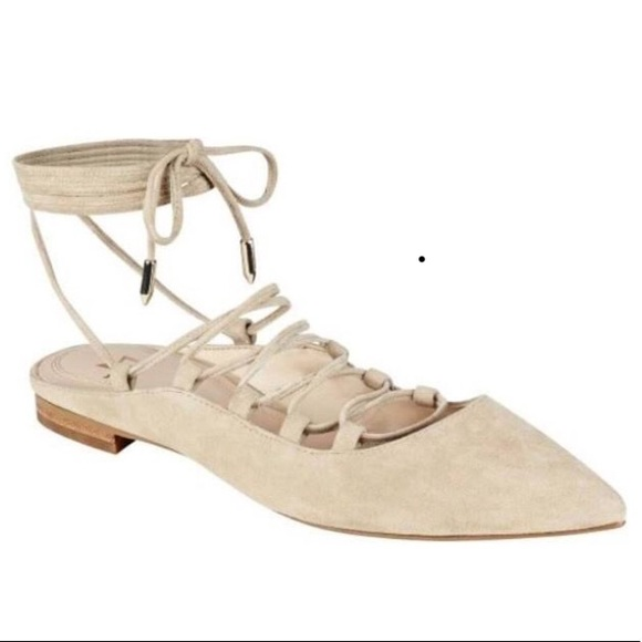 Marc Fisher Lace-up Suede Flat